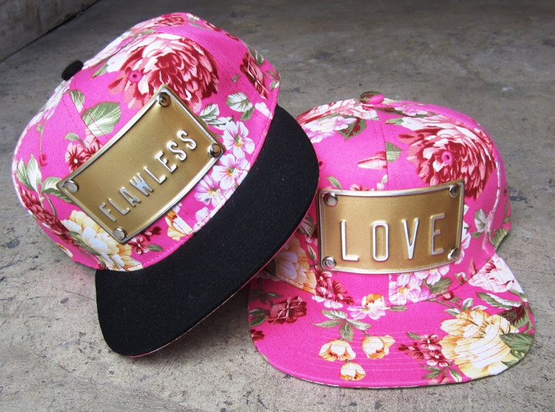 a82c835ebeb Flawless hat love hat floral pink hat pink snapbacks hat queen