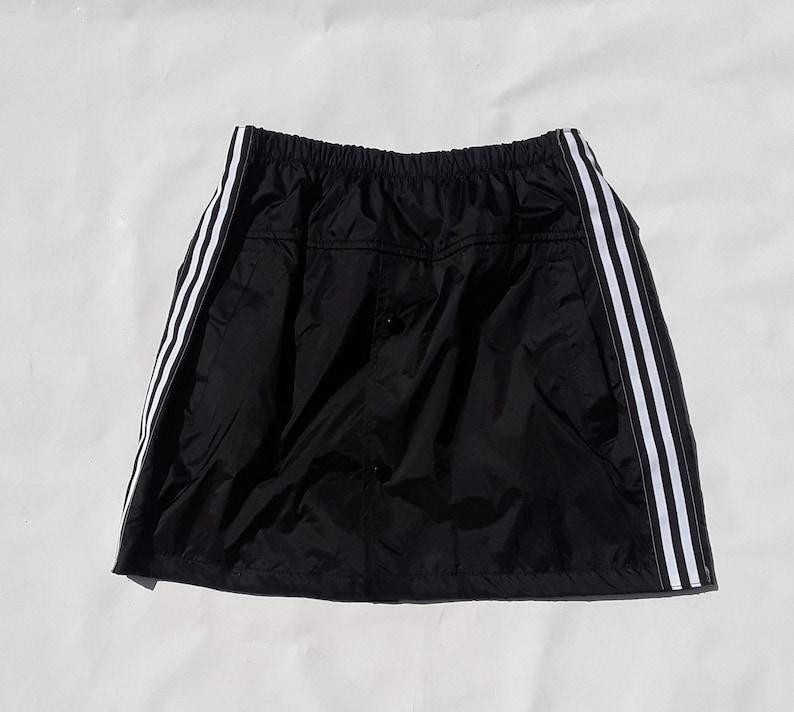 bec01f1c7 Sporty skirt black skirt windbreaker skirt stripe skirt red   Etsy