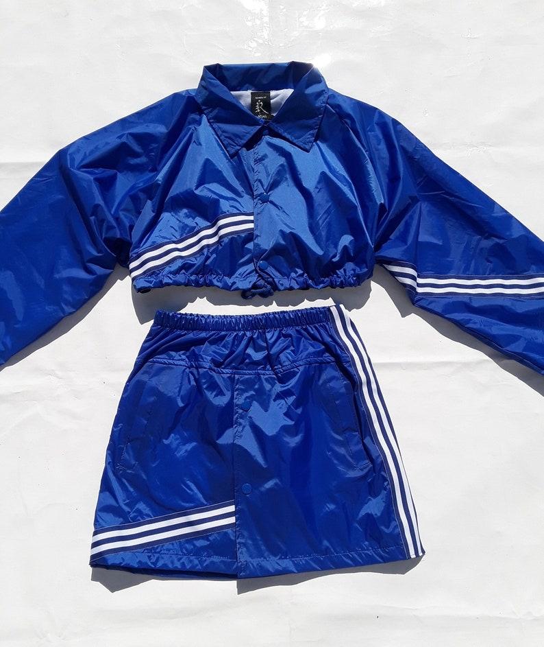 e994b8238 WINDBREAKER skirt chaotic stripe skirt nylon skirt sport skirt   Etsy