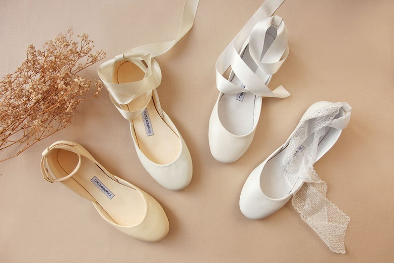 The Wedding Shoes Custom Bridal Ballet Flats Ivory White  20d20516d3