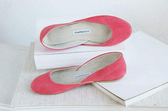42 Strawberry eu Width Model Ballet Ready Standard Last Flats Pair to Suede Strawberry Classic Ship pqEvxwwtn5
