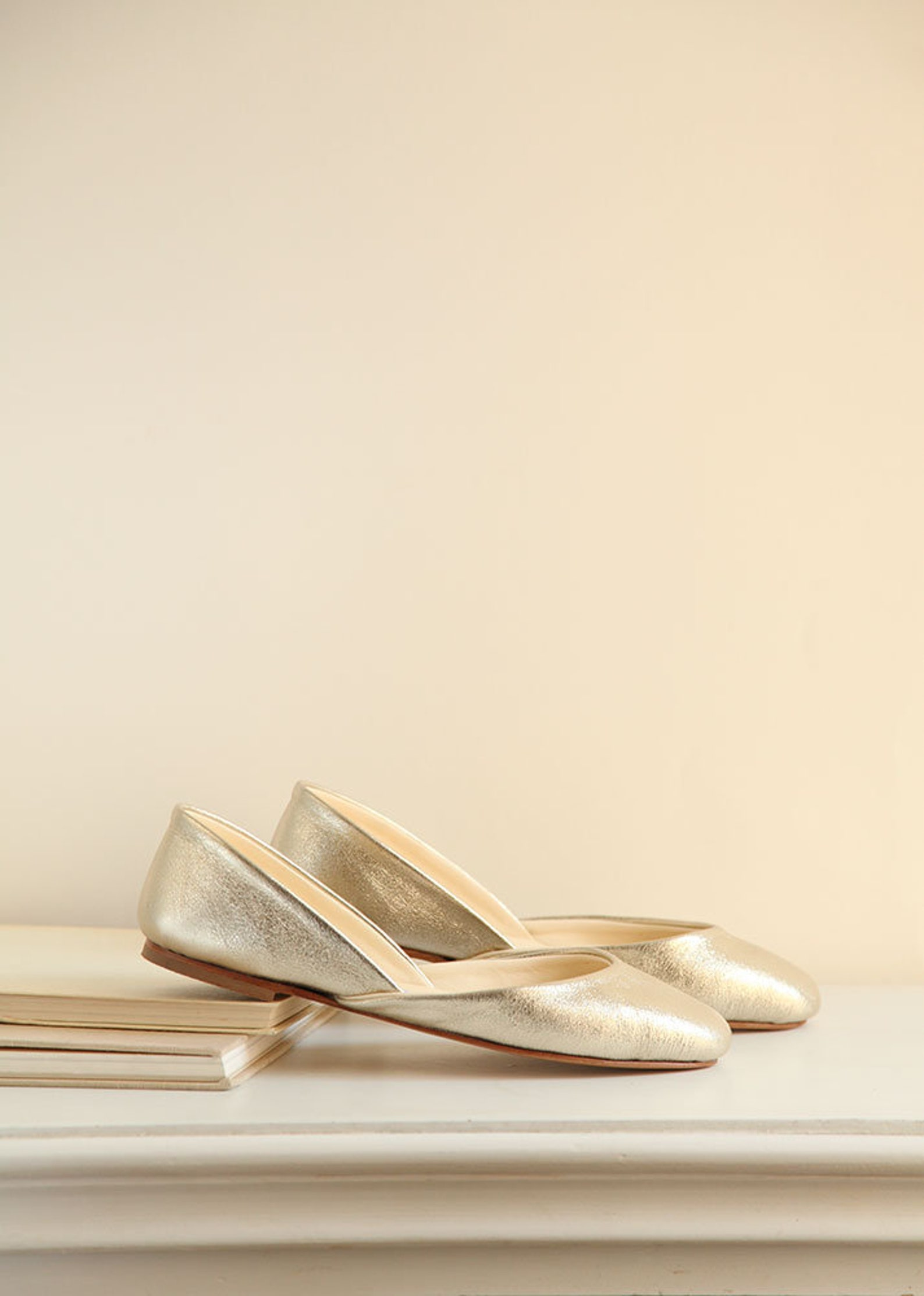 the sparkle gold ballet flats | wedding shoes | classic model | standard width | sparkle gold | ready to ship