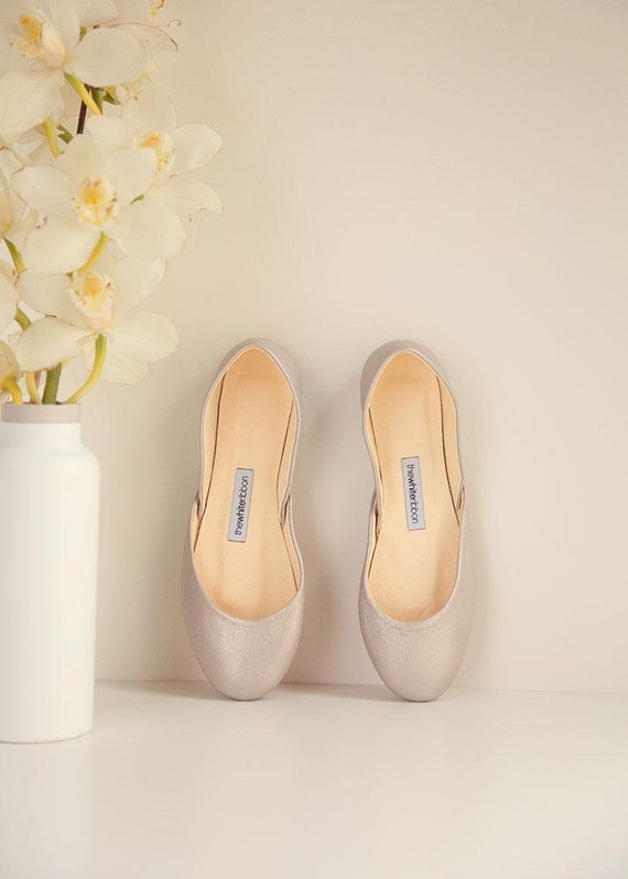 Rose Classic The Silver Style in to Ready Silver Ship Pointe Flats Rose Ballet Shoes dxXB4wqFgX