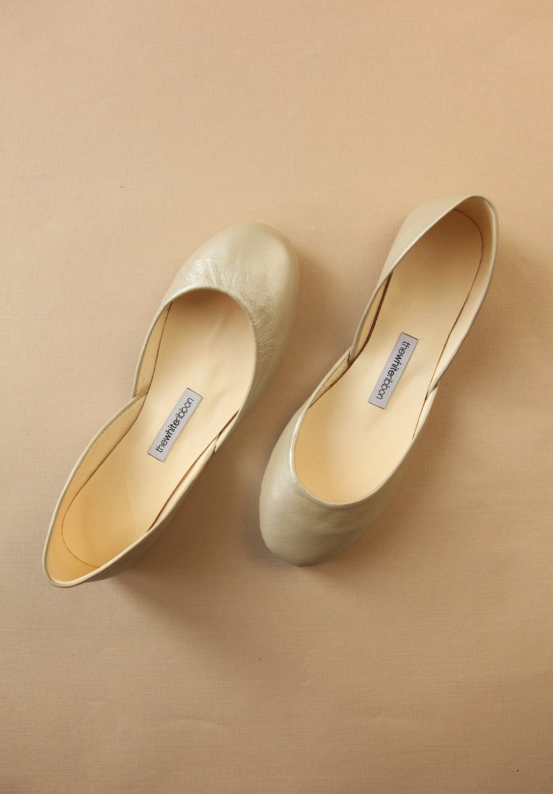 f89fd311013 The Classic Ballet Flats in Champagne   Pointe Style Shoes   Standard Width    Champagne   Classic Cut   Ready to Ship