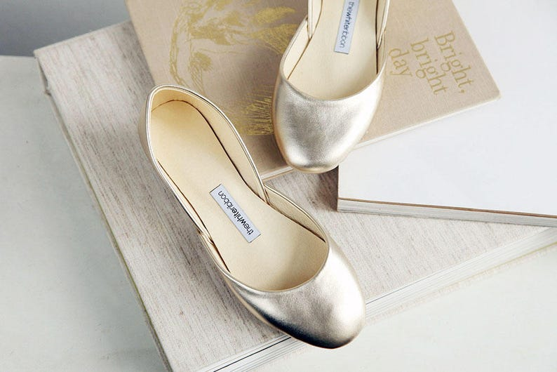 Ballerinas aus weichem Restleder  Goldene Ballet Schuhe  image 1