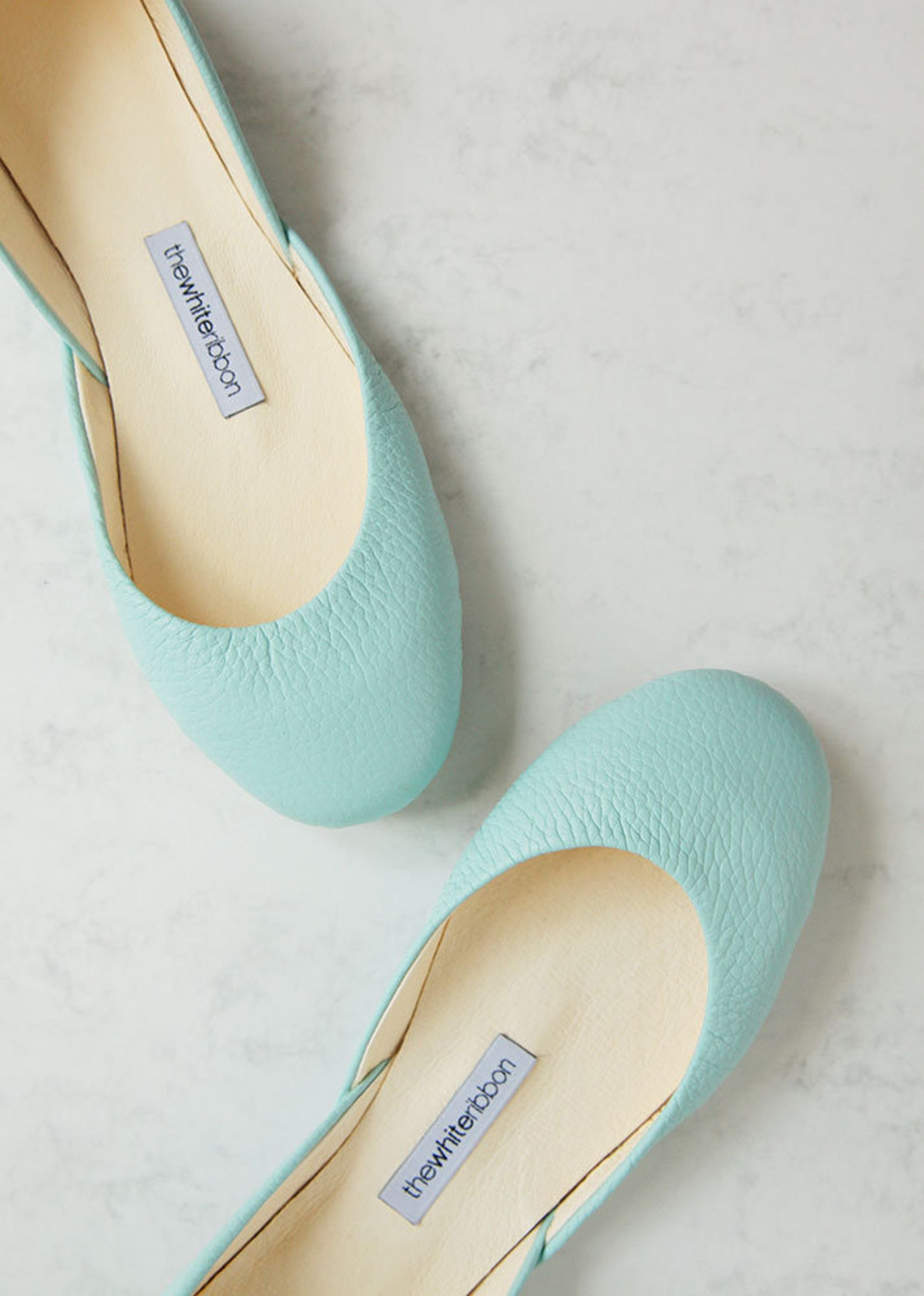 mint bridal shoes | mint blue ballet flats | my something blue | classic model | standard width | mint textured | ready to ship
