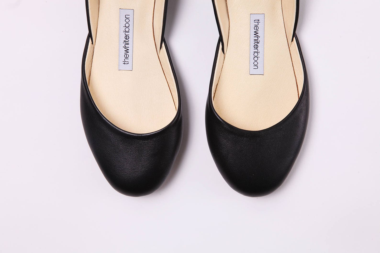 mary jane ballet flats in black leather | pointe style shoes | classic model | standard width | black mary janes | ready to ship