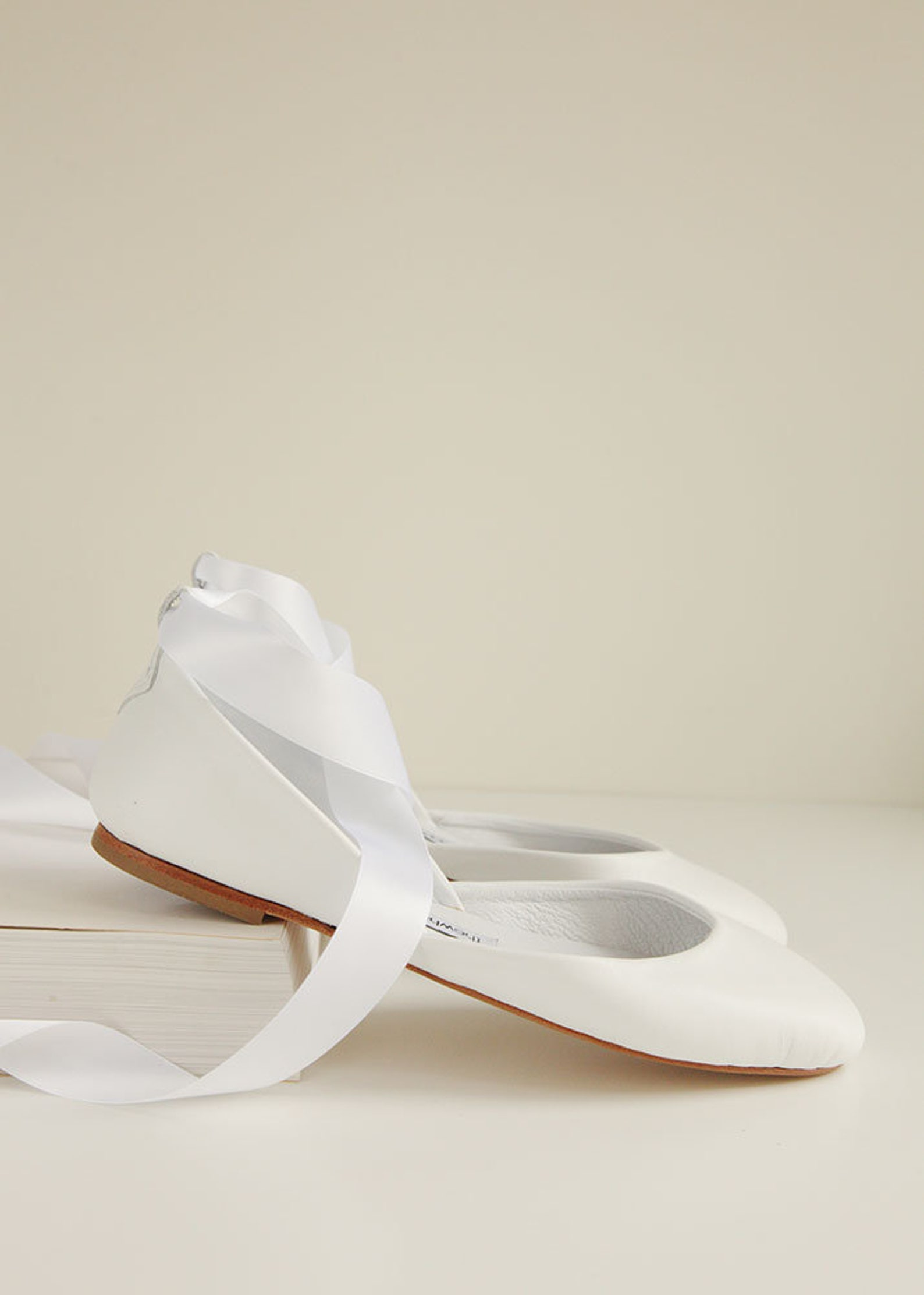 the wedding shoes | custom bridal ballet flats | ivory white pearl bridal shoes | satin and french lace | made to order