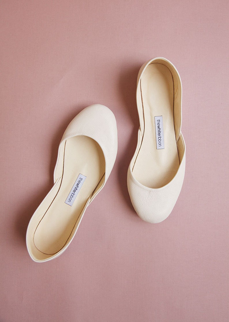 c6558675c36 The Classic Ballet Flats in Porcelain   Pointe Style Shoes   Porcelain    Ready to Ship