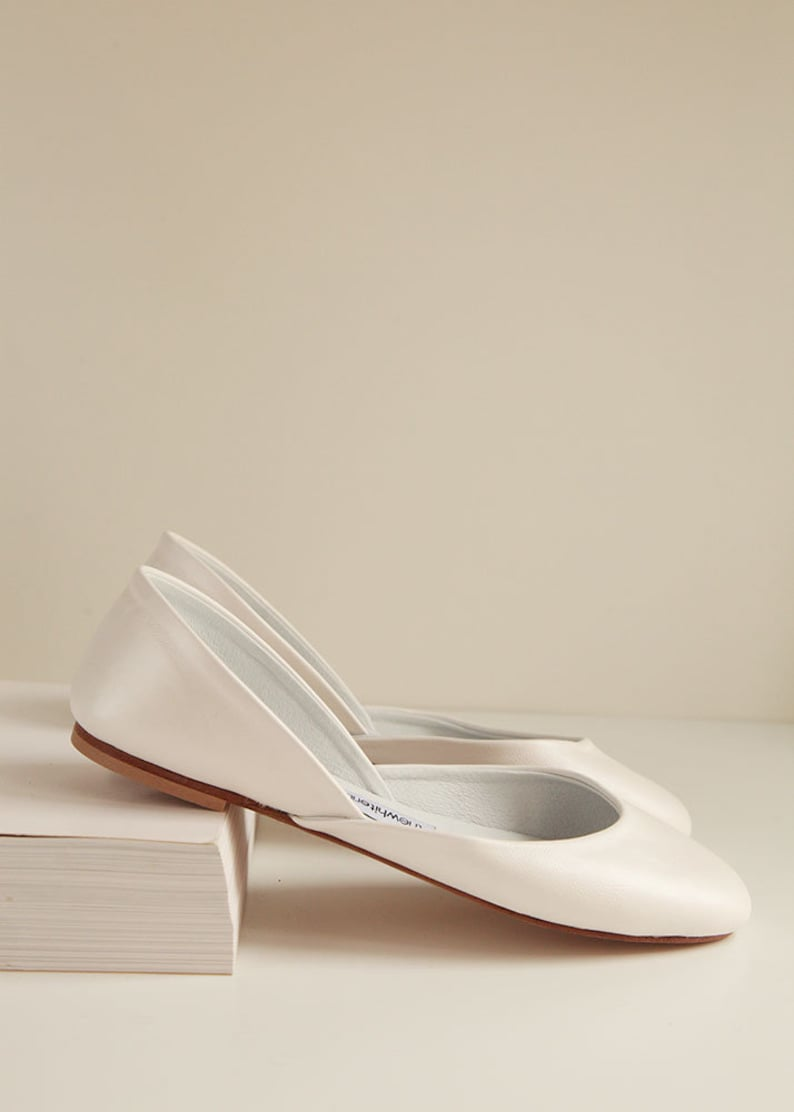 089f428775f The Classic Ballet Flats in Pearl Ivory | Pointe Style Shoes | Pearl Ivory  Bridal Shoes | Made to Order