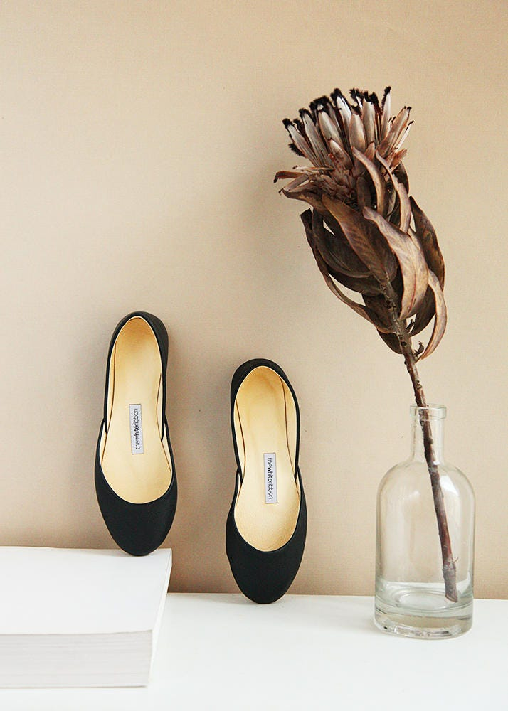 The Classic Black Ballet Flats | Pointe Style | Shoes | Classic Model | Style Standard Width | Black | Ready to Ship dac184