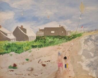 Original Art Magnet, Cape Cod Decor, Frameable Magnet, Beach House Gift