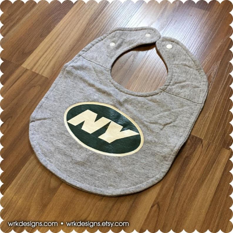 e9d133741b8 New York Jets Baby Bib Recycled T-Shirt Baby Bib Sports Baby