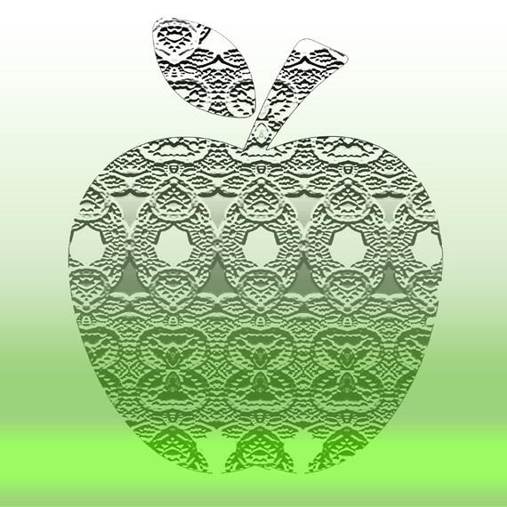Granny Smith Apple Art, Green Apple Art, Green Kitchen Art, Kitchen Wall  Art, Kitchen Decor, Modern Kitchen, Apple Painting, Apple Art Print