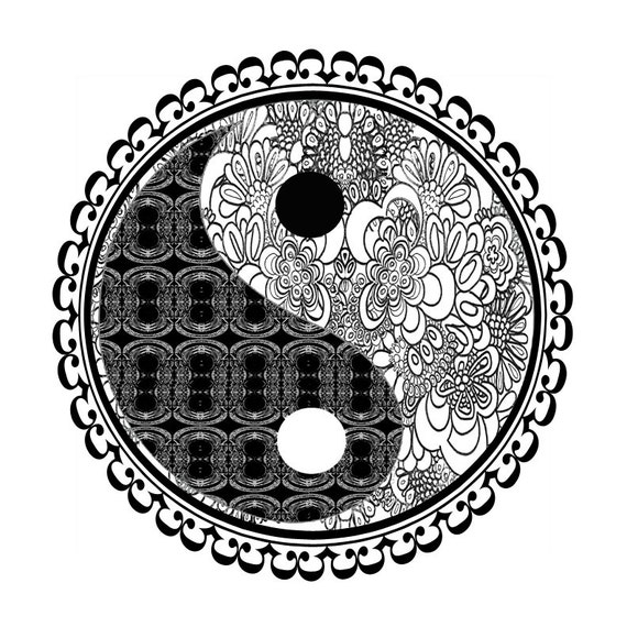 Zen art yoga picture yinyang yin yang art poster the yin