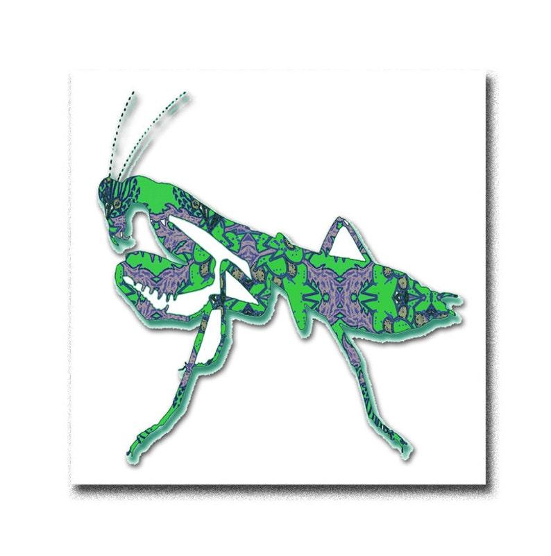 praying mantis drawing simple