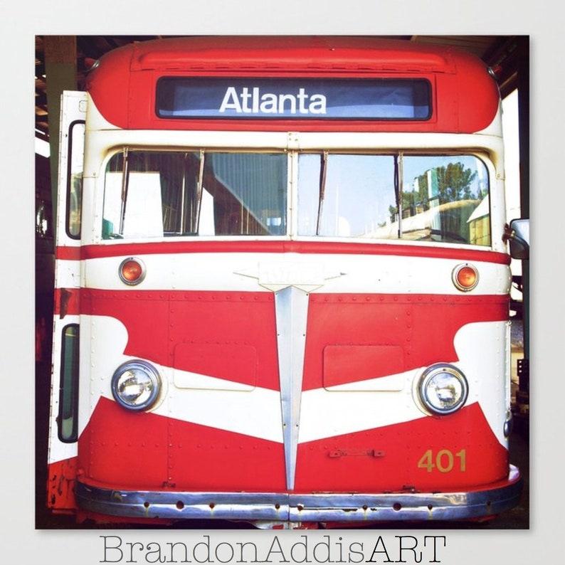 Atlanta Bus Photo Atlanta Transit Art Industrial Wall Decor image 0