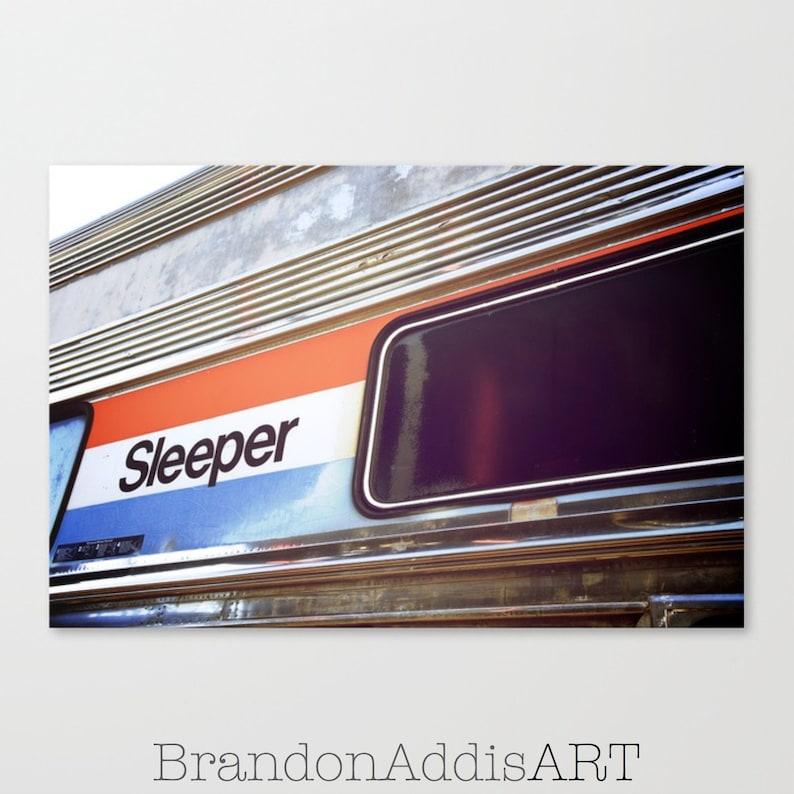 Bedroom Decor Train Print Sleep Sign Retro Decor Bedroom image 0