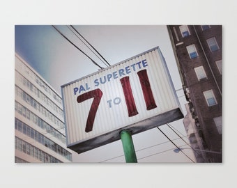 Kitchen Sign, 711, Vintage Grocery Store Sign, Art Photography Print