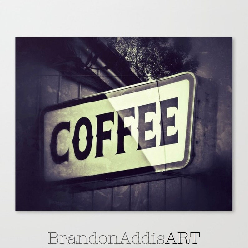 Farmhouse Kitchen Coffee Sign Breakfast Room Decor Kitchen image 0