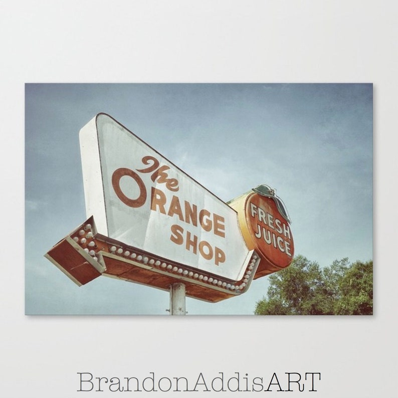 Kitchen Wall Art Photography Orange Shop Orange Juice image 0