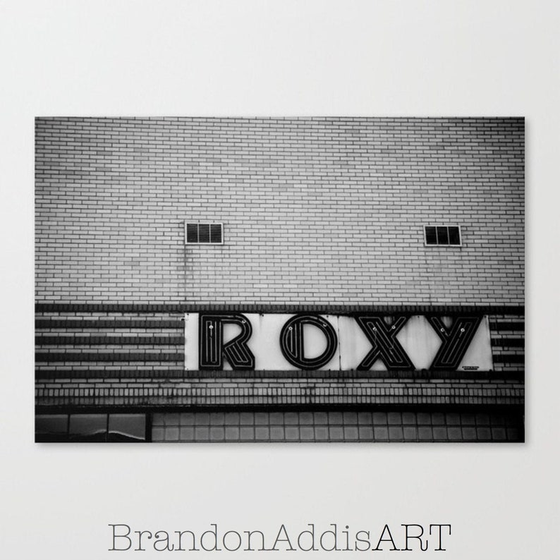 Game Room Decor Black and White Theater Photography Print image 0