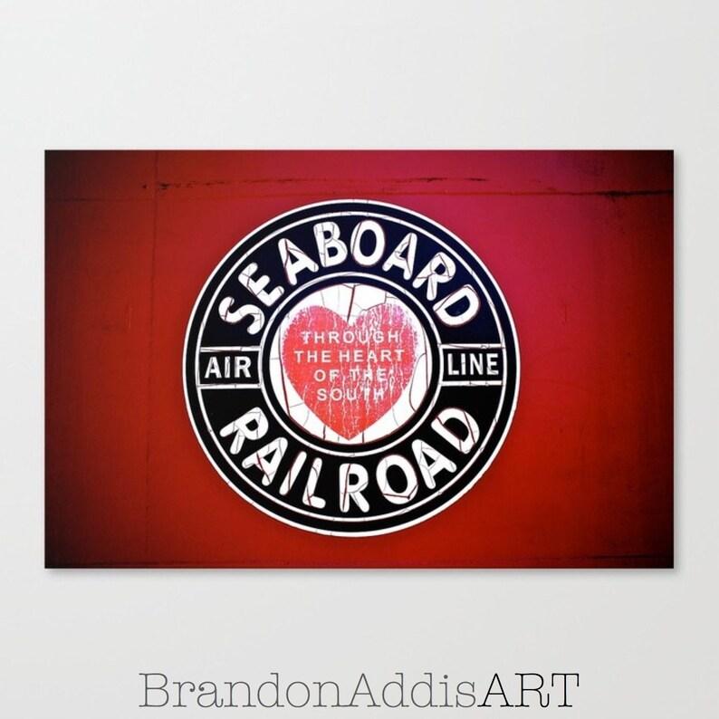 Train Room Decor Train Wall Decor Deep Red Train Car image 0