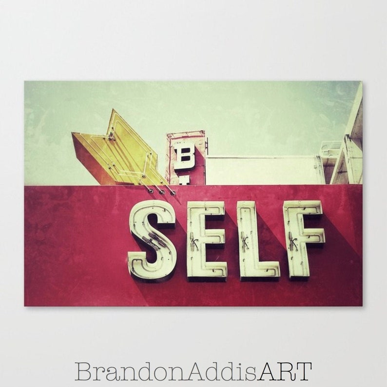 Neon Sign Photograph Inspirational Art Be Yourself. image 0