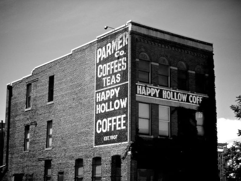 Happy Hollow Coffee Sign Coffee Art Kitchen Wall Art image 0