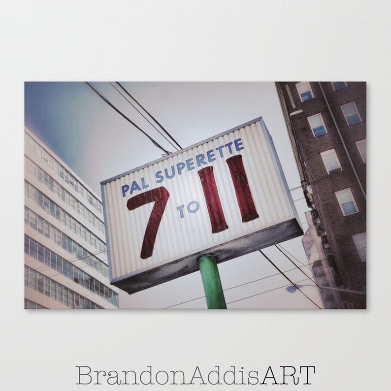 Kitchen Sign 711 Vintage Grocery Store Sign Art Photography image 0