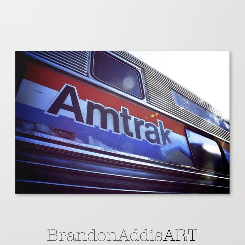 Bedroom Art Train Decor Retro Travel Photography Amtrak image 0