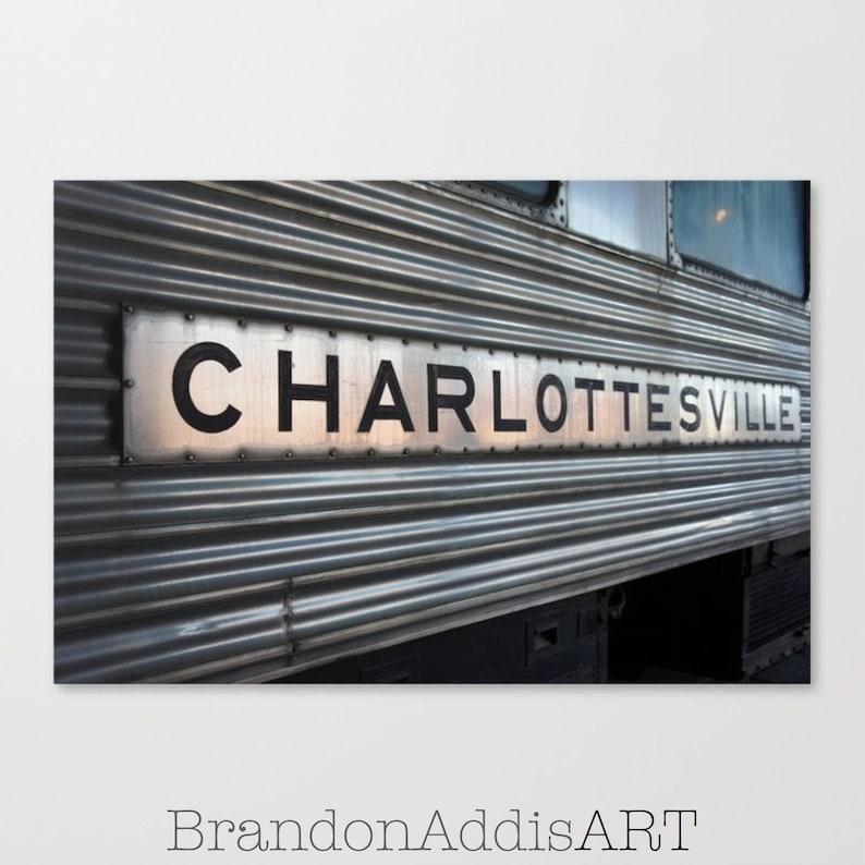 Charlottesville Train Photo Industrial Wall Decor Office image 0