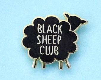 Enamel Pin, Black Sheep Club, Lapel Pin, Gifts under 10