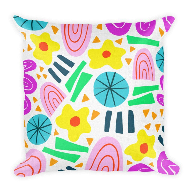 Throw Pillow Pillow cover & insert Colorful Abstract image 0