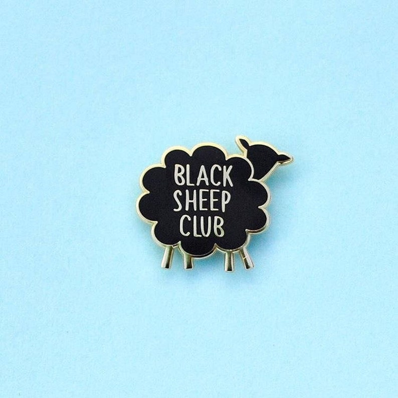 Enamel Pin Black Sheep Club Lapel Pin Gifts under 10 image 0