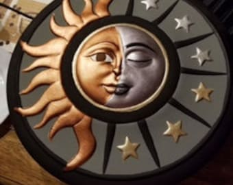 Ready to paint ceramic Sun/moon Limited availability