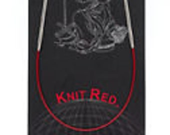 "ChiaoGoo Regular - SS Knit Red - 9"" Circular"