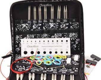 """ChiaoGoo - 5"""" TWIST Interchangeable Needle Set Red Lace Complete US 2-15 (2.75mm-10.00mm)"""