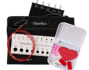 "ChiaoGoo - 4"" TWIST Interchangeable Needle Set Red Lace Mini US 000-1.5 (1.50mm-2.50mm)"