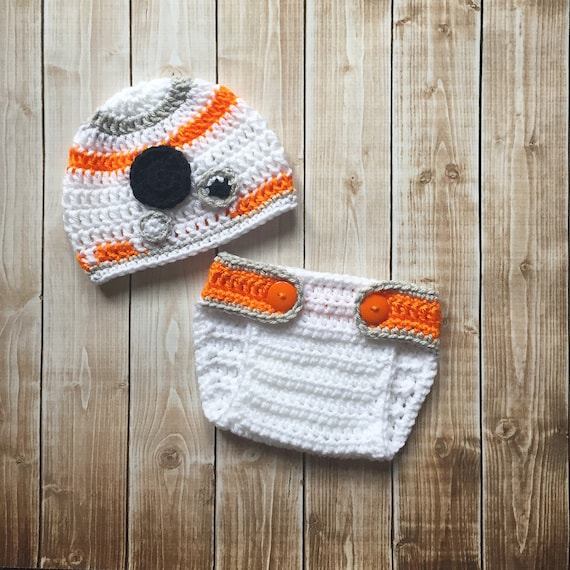 ce107413a53 BB8 Inspired Hat with Matching Diaper Cover  BB8 Costume  Star
