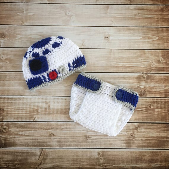 bac5213c972 R2D2 Inspired Hat with Matching Diaper Cover  R2D2 Costume