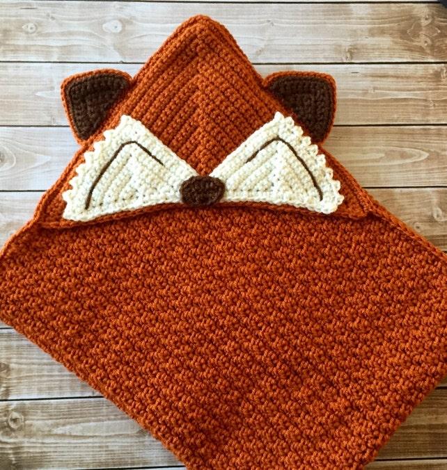 Kleine Herr Fuchs Baby Decke/Kapuze Fuchs Decke/Kapuze Baby | Etsy