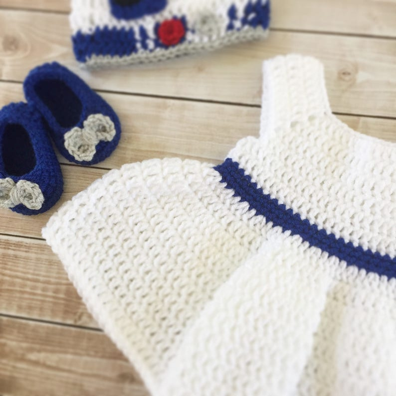 a8df5b6dc79 R2D2 Inspired Baby Girl Costume  Crochet R2D2 hat Star Wars
