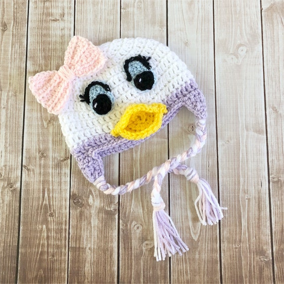 bfb92e052a3 Daisy Duck Inspired Hat  Crochet Daisy Duck Hat  Available in