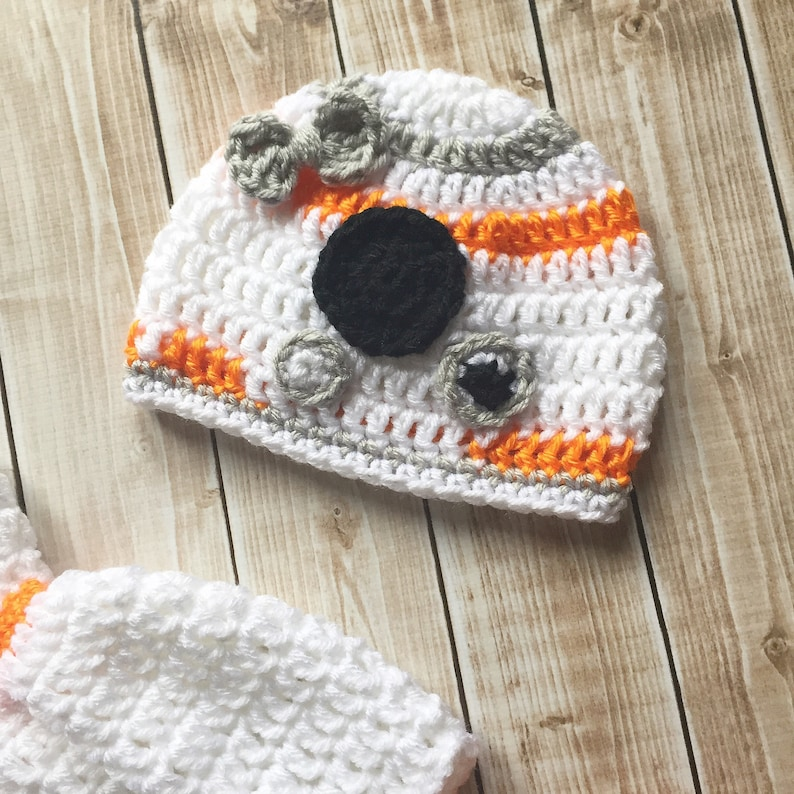 7e0d6ddf7e8 BB8 Inspired Baby Girl Costume  Crochet BB8 hat Star Wars