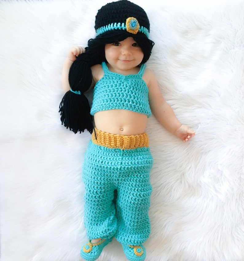 40ebb496a21 Princess Jasmine Inspired Costume  Crochet Princess Jasmine