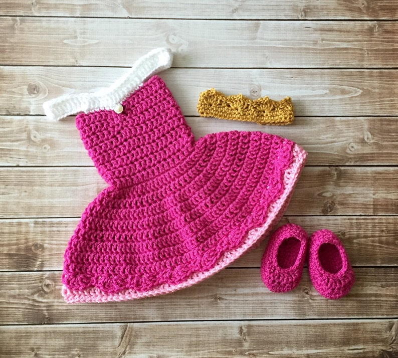 Princess Aurora Sleeping Beauty Inspired Costume and Matching DollBaby Shower GiftPrincess Photo Prop Newborn to 12 Months MADE TO ORDER