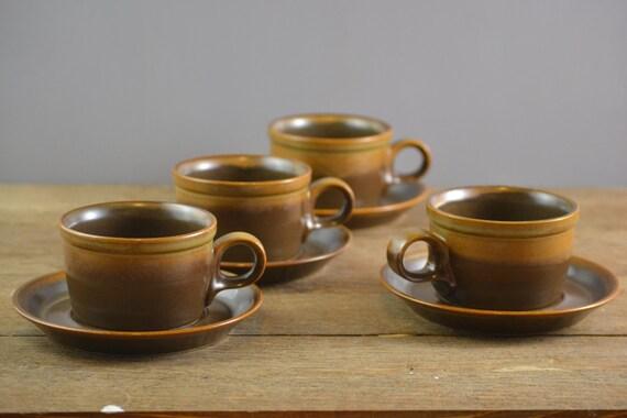 4 Vintage Mikasa Potters Art Ben Seibel Design Rusticana Mug Etsy