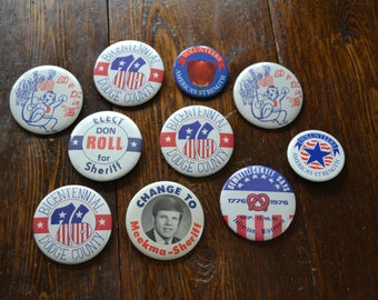 "2"" Wisconsin Dodge County Election themed Pin Back button Memorabilia"