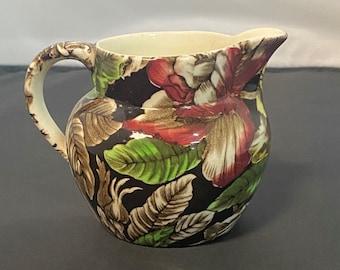 "Myott, Son, & Co Bermuda Pattern Flower Pitcher, Made in England 3 1/4"""